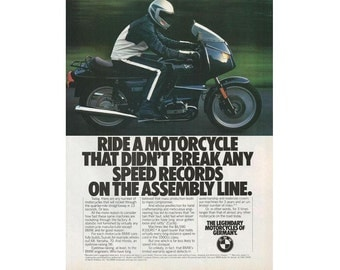 Vintage magazine ad for a 1983 BMW Motorcycle - 4