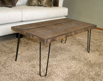 Modern Coffee Table 16x30, Tiny House Table, Rustic Home Decor, Mid Century Modern, Table, Mother's Day Gift, Living Room Decor, Apartment