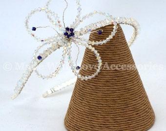Tiara, Swarovski Tiara, Flower Tiara - Bridesmaids Hair Accessory, Wedding Accessories, Bridal Accessories, Prom Hair Accessory, Prom Tiara