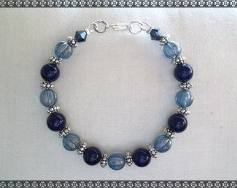 blue bracelet, dark blue bracelet, light blue bracelet, blue