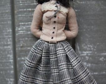 Paris miniature doll La Parisienne OOAK posable