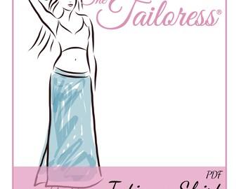 Tatiana Jersey Skirt PDF Sewing Pattern