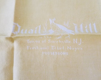 Fred and Ethel Noyes Quail Ridge Possessors Napkin  #M16