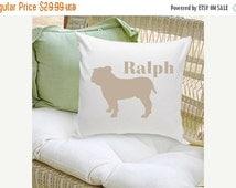 Personalized Pet Pillow - Dog Silhouette Decorative Pillow - Dog Home Decor (GC1228)