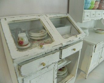 miniature  shabby chic pantry 1/12 scale