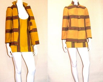60s Mini-Dressing in Stilleto's Rain Suit, a Designer's Original Sample Jumper Dress and Matching Jacket