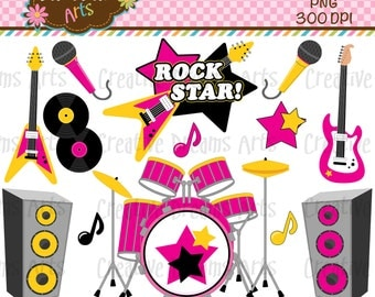 40% Off! Girls Rock Digital Art Instant Download