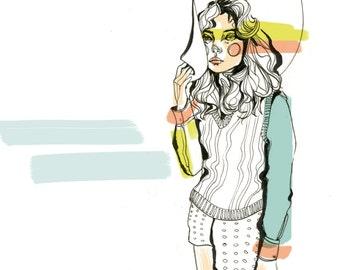 W Mag Fashion Illustration/Art Print