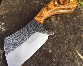 MADE TO ORDER - Custom Mini Cleaver w/ Kydex Sheath - Handcrafted from High Carbon 1095 Steel