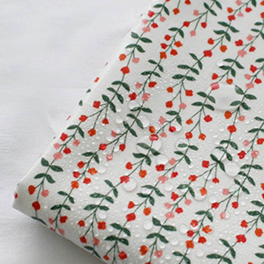Laminated cotton fabric by the yard 44 wide cozy floral for Cotton fabric by the yard