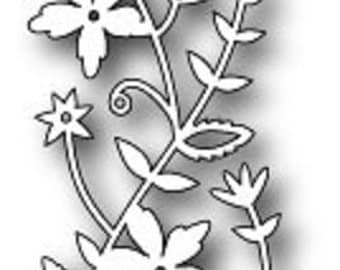Memory Box Craft Die  100% Steel - Made in USA -Fairytale Flower Border - 98473