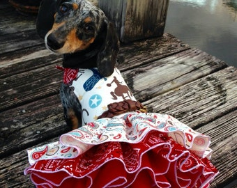 Cowgirl Rooten Tooten Time Dog Dress