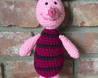 Crochet Piglet Stuffed Animal