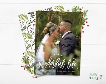 It's a Wonderful Life Photo Chistmas Card - Custom Photo Christmas Card - Printable Christmas Card - Wonderful Life Christmas - Printed Card