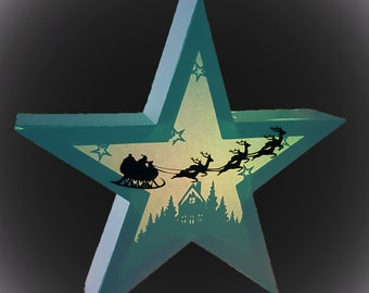 3D Star Hanging Star Lantern Winter Cottage  scene template