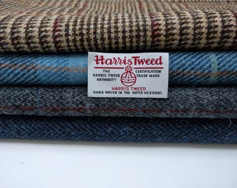 Harris Tweed Fabrics - 4 Piece Mix - Blacks