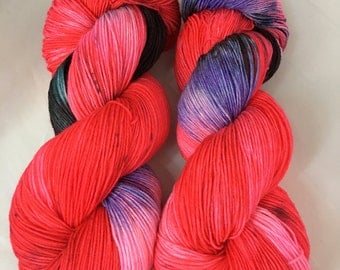 Yarn, TAINTED LOVE, fingering weight, indie dyed yarn, yarn in handmade, hand dyed yarn, merino wool yarn, speckled yarn