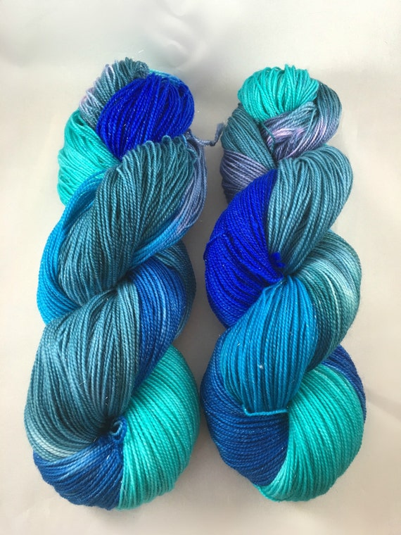 Hand Dyed Yarn : Hand dyed yarn OCEANIA, sw merino, hand dyed worsted, dyed DK, dyed ...