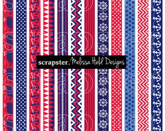 Nautical Border Patterns Clipart