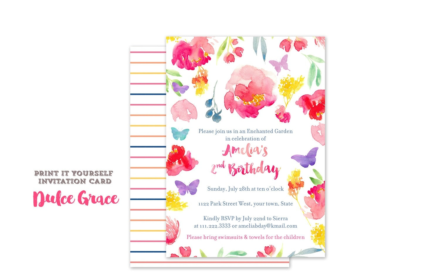 Butterfly invitation – Butterfly Birthday Party Invitations