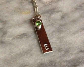 Personalized Stamped Initial Necklace