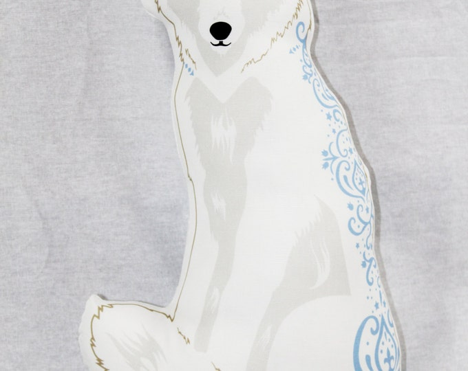 Wolf Doll/Pillow - White Wolf