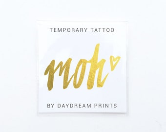 MOH tattoo | Maid of honor tattoo | Maid of honor proposal | Bachelorette tattoo | Bachelorette party favors | Bachelorette party tattoo