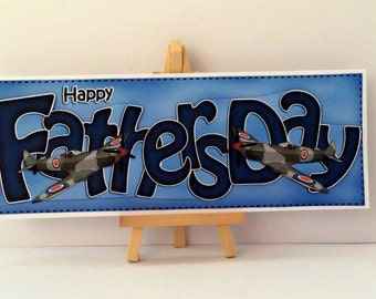Planes Fathers Day Card * Handmade Card * Planes Card * Aeroplane Card * Fathers Day Card * Card For Dad * Happy Fathers Day * Dad Card *