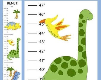 ON SALE ON Sale Personalized Little Dinosaurs Canvas Growth Chart