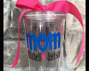 Mom Squared Personalized Kids Names Tumbler - 16 oz.
