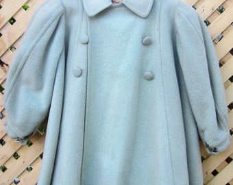 Vintage Ladies Dress A Line Over Coat Wool VTG 1960's Designer Couture Paris