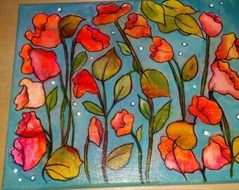 Wall Flowers.  8 x 10