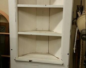 White corner china cabinet