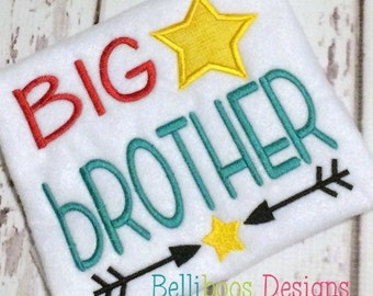 Big Brother Embroidery Design - Big Brother Applique Design - Sibling Applique - Sibling Embroidery - Applique Design - Brother Applique
