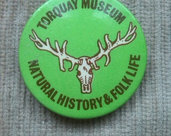 Torquay Museum National History and Folk Lore Life pin 1960