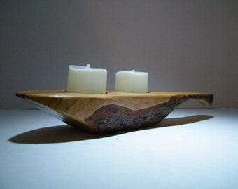 Candleholder/Flameless Candle Holder/ Cherry Wood Candleholder