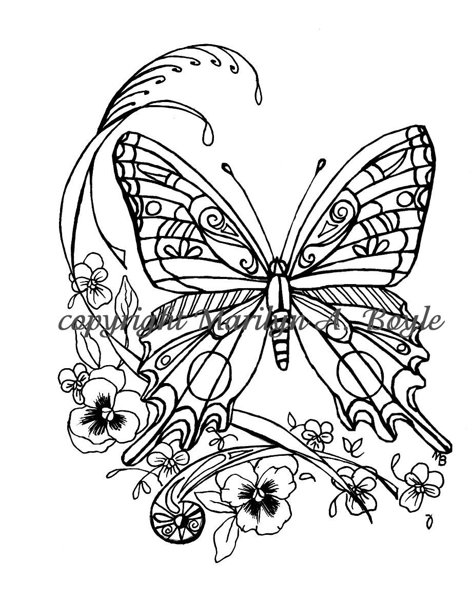 alleen kleurplaat vlinder a4 krijg duizenden kleurenfoto