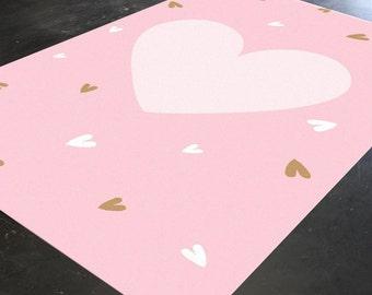 Pink nursery rug   Etsy