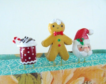 Christmas Cheer Clay Paperclip Set