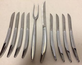 VTG Towle steak knives set of 8 stainless steel Carving Fork Set