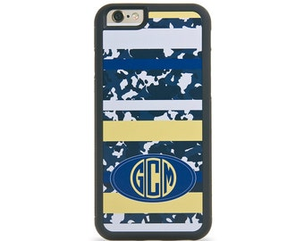 Camouflage Monogram Personalized iPhone Case, Monogram Personalized Galaxy Case