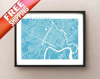 Wilmington, DE Map Print - Delaware Poster