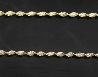 """3mm 18"""" Sterling Silver, Gold Twisted Spiral Chain Necklace"""