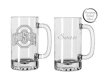 Ohio State beer mugs,College mugs,etched beer mug,etched glasses,sports mugs,Etched beer mugs,Customized beer mugs,Man Cave