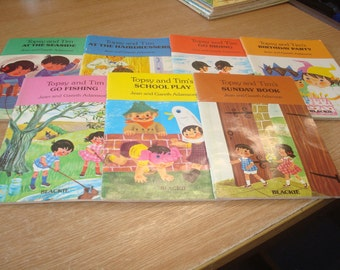 Set of 7 Topsy & Tim paperback books