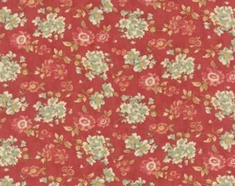 Larkspur Sweetbriar Rose Red- 1/2yd