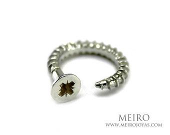 Screw Ring jewelry Sterling Silver/ Anillo Tornillo Plata 925