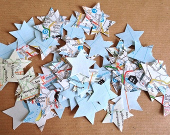 Party Table Star Confetti - British Road Map/Travel/Journey/Holiday - 100pcs