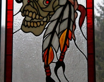 Stained Glass Pirate Skull
