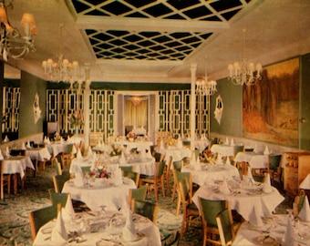 Quebec, Canada, French Restaurant, Le Grand restaurant Francais, Chrome, Unused, Vintage Postcard